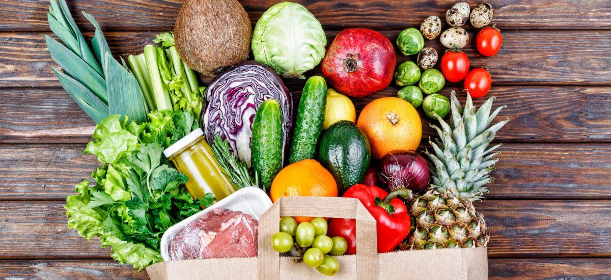 Natural,Healthy,Food.,Food,In,A,Paper,Bag.,Paper,Bag